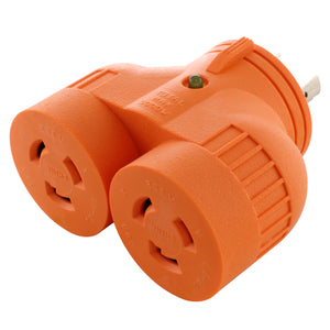 V-DUO adapter, multi outlet adapter, AC WORKS, AC Connectors, orange adapter