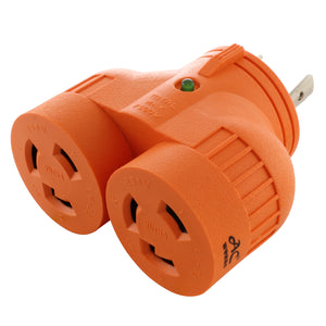 AC WORKS, AC Connectors, orange multi-outlet adapter, V-DUO adapter