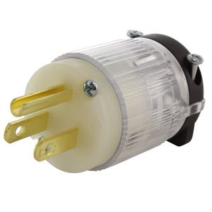 AC WORKS, AC Connectors, household plug with power indicator, DIY household plug assembly with power indicator
