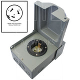 NEMA SS2-50P inlet, SS250 male inlet box, 50 amp locking inlet