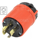 AC Works, NEMA L14-20P, L14-20P, L1420P, L1420, generator locking plug, generator plug assembly, locking plug assembly