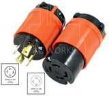 AC Works, NEMA L14-30P, L14-30P, L1430P, L1430, NEMA L14-30R, L14-30R, L1430R, locking plug and outlet, generator plug and outlet