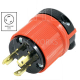 AC Works, NEMA L6-30P, L6-30P, L630P, L630, 30 amp twist lock, 30 amp locking plug,