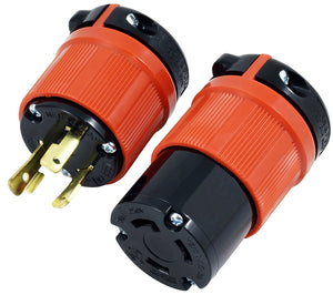 AC Works, wiring devices, L630 plug and outlet assembly, locking plug and connnector assembly