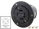 NEMA L14-30R outlet, L1430 outlet, locking outlet