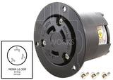 NEMA L6-30R outlet, 3-prong locking outlet, L630 outlet,
