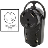 30A 125V RV female connector assembly