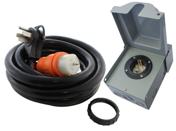AC WORKS® [EP1450KIT] 50A Emergency Power Kit with SS2-50 Inlet Box