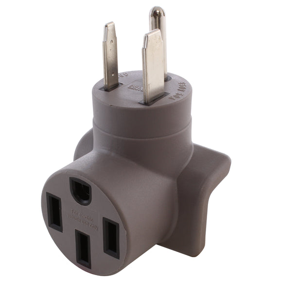 compact Tesla charging adapter, modern gray adapter, AC WORKS, AC Connectors