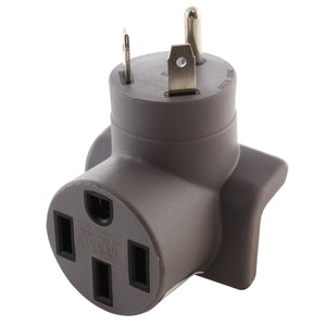 AC WORKS Brand Tesla adapter, right angle adapter, compact adapter, modern gray adapter