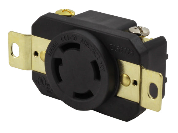 AC Works, AC Connectors, generator receptacle, replacement outlet, industrial receptacle