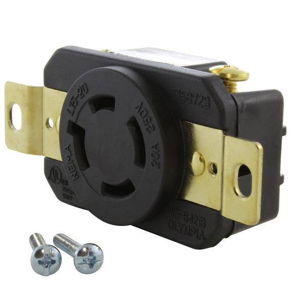 AC WORKS brand heavy-duty replacement outlet, industrial grade DIY receptacle by AC Connectors