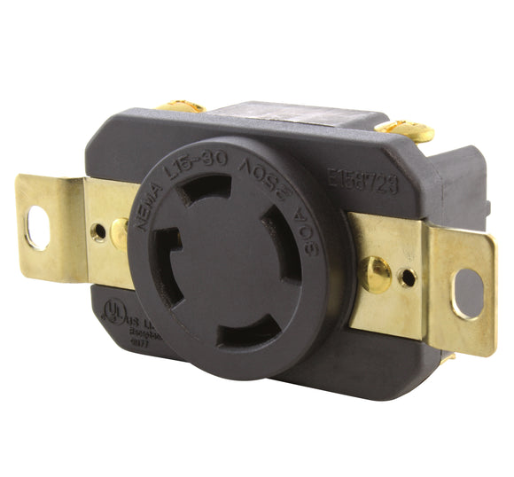 AC WORKS, AC Connectors, replacement outlet, DIY outlet, wiring outlet, outlet for generator, replacement outlet for generator