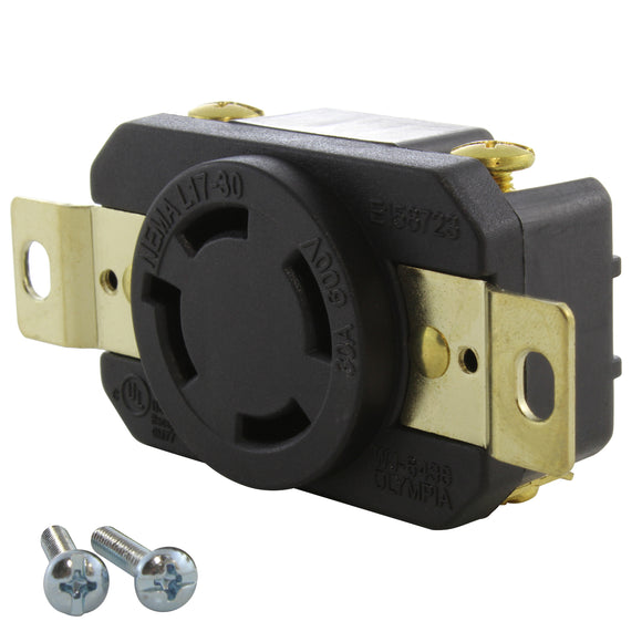 AC WORKS brand heavy-duty industrial grade replacement outlet