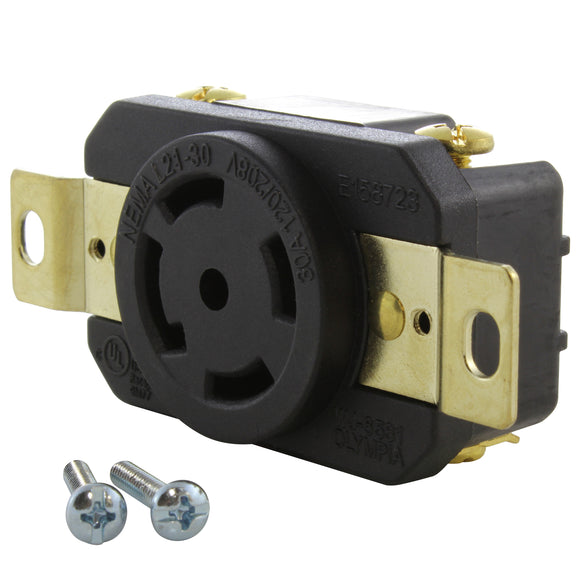 AC WORKS brand heavy-duty replacement industrial power outlet