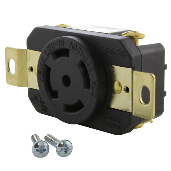 AC WORKS brand 277/480V replacement outlet, high powered industrial grade outlet from AC Connectors