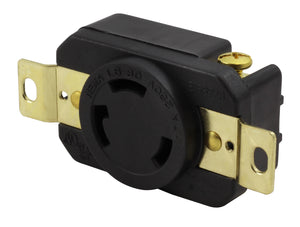 AC Works, flush mounting receptacle, wiring device, replacement outlet, 30 amp locking outlet