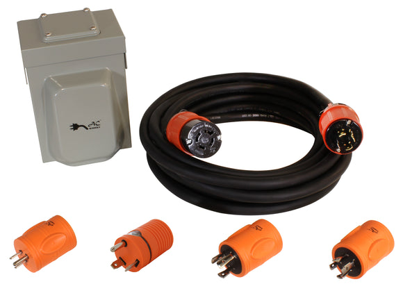 Please Contact Us For Sold Out Items: AC WORKS® [EPL1420KIT] Generator Emergency Power Kit with L14-20 Inlet Box