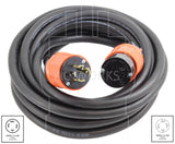 AC Works, NEMA L14-20P to NEMA L14-20R, NEMA L14-20 extension cord, 4 prong 20 amp extension cord