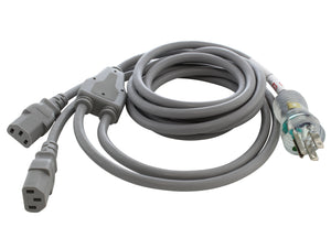 hospital grade power cord with two C13  connectors