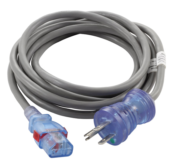 AC Works, medical grade cord, medical cord, gray medical cord