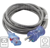 AC Works, household plug to IEC C13