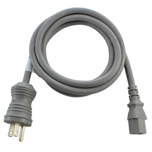 medical grade power supply cord, IEC C13 to green dot household plug