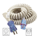 AC Works, medical cart cord, household plug to IEC C13