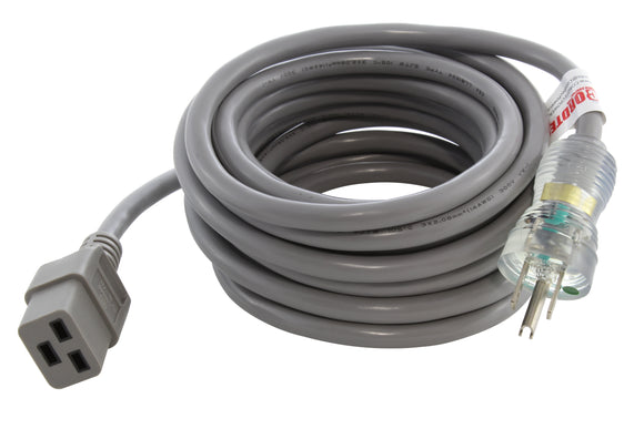 15 amp medical grade power cord with C19 connector