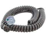 medical grade coiled power cord, hospital grade coiled power cord with good memory