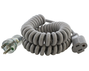 coiled medical grade cords for data cart, green dot medical grade cord for hospital use