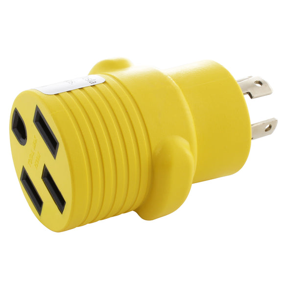 Yellow adapter, compact adapter, barrel adapter, locking adapter, generator to RV, EV charging adapter