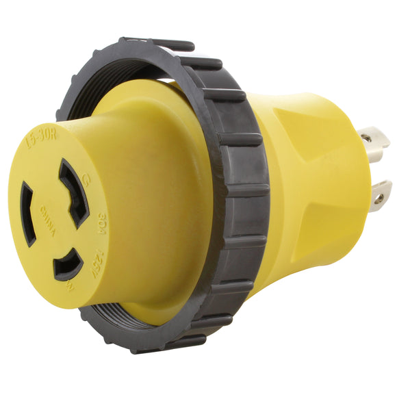 AC WORKS yellow adapter, compact adapter, locking adapter, adapter with ring, AC Connectors
