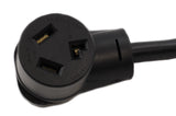 AC WORKS [S14301030-018] 4-Prong NEW Dryer Plug to 3-Prong Old Dryer Socket Adapter Cord