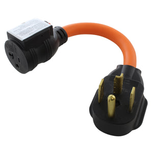 4-prong dryer outlet to 20 amp household connection with circuit breaker