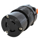 AC WORKS® [S650L620-018] 1.5FT 6-50P 50A Welder Plug to L6-20R 20A 250V Locking Outlet
