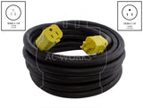 AC WORKS® [SD515PR] SOOW 10 Gauge NEMA 5-15 15A 125V  Over Kill Super Duty Rubber Extension Cord