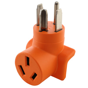 AC WORKS right angle adapter, 90 degree compact adapter, orange adapter, welder adapter, AC Connectors
