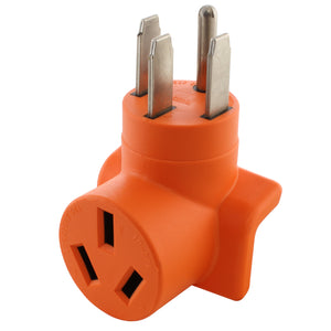 compact welder adapter, generator to welder adapter, orange adapter, right angle adapter, 90 degree adapter