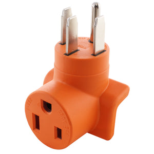 right angle adapter, orange adapter, 90 degree adapter, welder adapter, AC WORKS, AC Connectors, generator to welder adapter