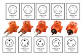 Orange welder adapters, welder adapters, welder kit, compact welder kit