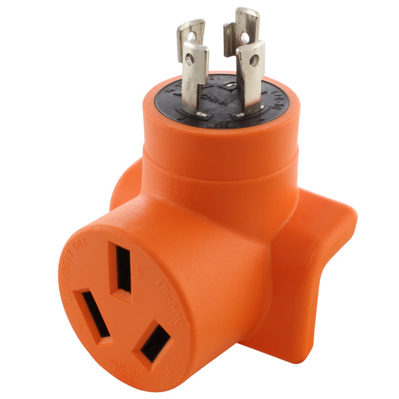 compact welder adapter, orange adapter, right angle adapter, 90 degree adapter, AC WORKS, AC Connectors