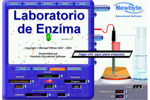 Software Educativo Newbyte: Laboratorio de Enzimas - AlmacenEducativo.com