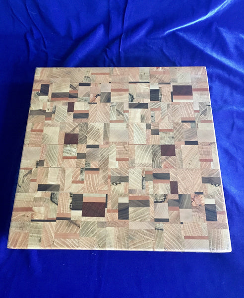 Board #13: Cubic Abstract Cutting Board