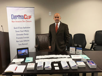 DermaClip visits MHS Vendor Day to Show its Innovative Device