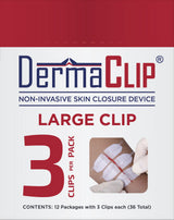 Box of DermaClip Large Clip, Standard 3 Pack (12 Pkg, PN 62004)