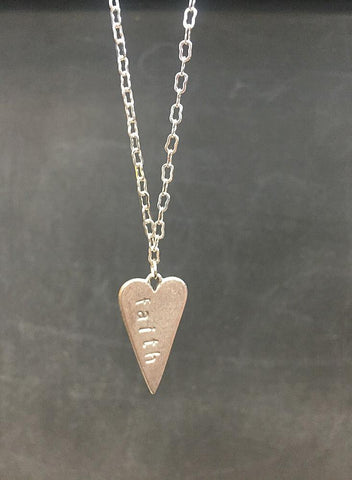 Handstamped Faith Necklace