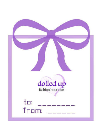 dolled up gift card