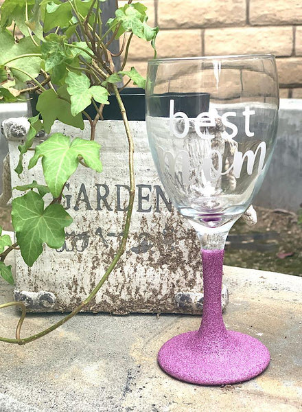 Glitter Wine Cup with Stem
