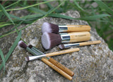 6 Piece Vegan Makeup Brush Set